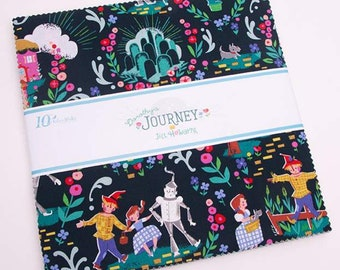 "Dorothy's Journey 10"" Stacker (Layer Cake )by Jill Howarth for Riley Blake Designs - Precut Fabric - 10"" x 10"" Precut"