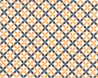 Fig Tree All Hallows Eve Ghost Crisscross - (20356 16)  by Fig Tree for Moda - Halloween Fabric - Cotton Quilting Fabric
