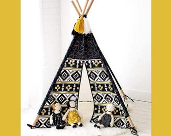 Playhouse Teepee Pattern by Simple Simon & CO - SALE (P102-PLAYHOUSETEEPEE) Make your own Teepee - Kid's Teepee Pattern