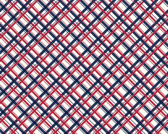Sugarhouse Park Navy Plaid Yardage by Amy Smart (Diary of a Quilter) for Riley Blake Designs (C8896-NAVY) Cut Options Available