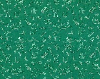 Lola Dutch Lola and Friends in Jade by Sarah Jane for Michael Miller - (DH8588-JADE-D) - Lola Dutch Fabric