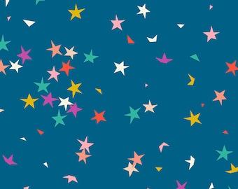 Ruby Star Society Pop Zip -  Starfetti Blue Raspberry  by Rashida Coleman Hale - Novelty Children's Fabric - (RS1004 15)