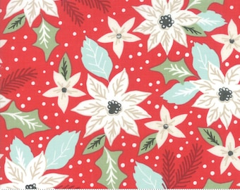 Little Tree by Lella Boutique - Christmas Bouquet - Cranberry (5091 13) Lella Boutique Little Tree for Moda Fabrics - Christmas Fabric