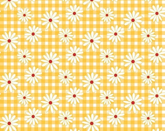 Gingham  Girls, By Amy Smart  Daisy Yellow C5901-Yellow