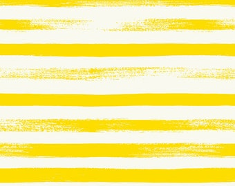 Ruby Star Society Pop Zip Lemon Yellow Stripe by Rashida Coleman Hale - Novelty Children's Fabric - (RS1005 25)