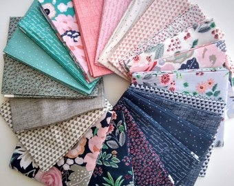 Edie Jane Fat Quarter Bundle  by Deena Rutter - Riley Blake Designs - 21 FQs - Deena Rutter Edie Jane FQ Bundle