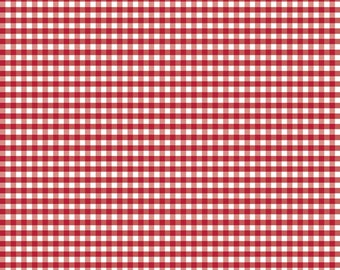 Small Gingham in Red (C440 80) -  1/8 inch Small Gingham in Red by Riley Blake Designs
