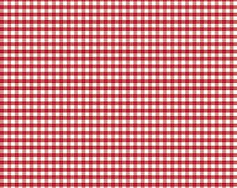 Riley Blake Designs, Small Gingham in Red (C440 80)
