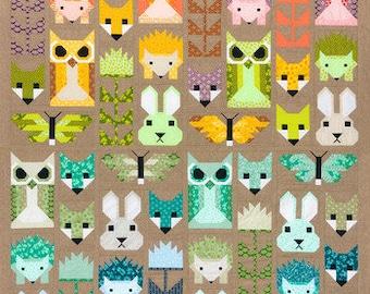 Recolored Fancy Forest Quilt Kit by Elizabeth Hartman