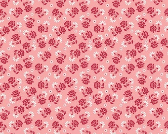 Granny Chic Pink Roses by Lori Holt (Bee in My Bonnet) (C8523 PINK) - Riley Blake Designs - Lori Holt Granny Chic