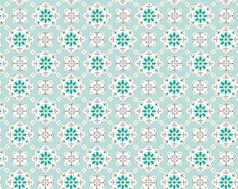 Granny Chic Blue Wallpaper by Lori Holt (Bee in My Bonnet) (C8517 BLUE) - Riley Blake Designs - Lori Holt Granny Chic