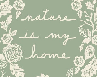 """Lella Boutique Harvest Road Digital Panel - Nature Is My Home  (5100 11P) Moda Quilt Panel 57"""" x 74"""" Perfect Quilt Backing!"""