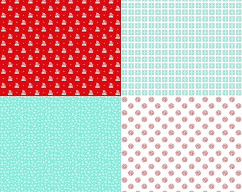 A Little Sweetness by Tasha Noel Fat Quarter Panel (FQP6511-Aqua)