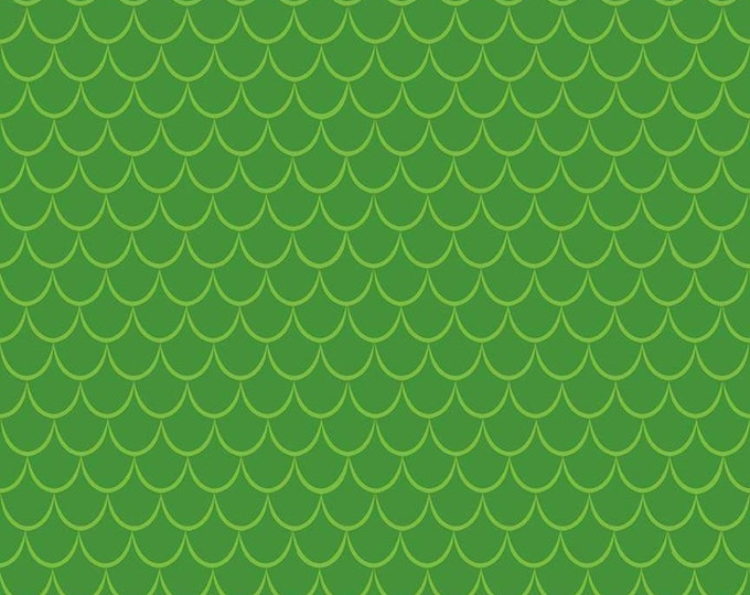 Dragons Scales Green (C7666-GREEN) by Ben Byrd from Dragons for Riley Blake Designs