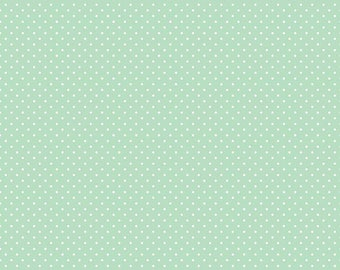 White Swiss Dot On Mint by Riley Blake Designs  (C670 Mint) - Swiss Dot Fabric - Cut Options Available