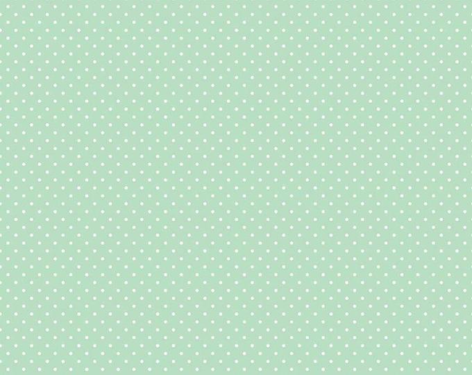 White Swiss Dot On Mint  (C670 Mint)