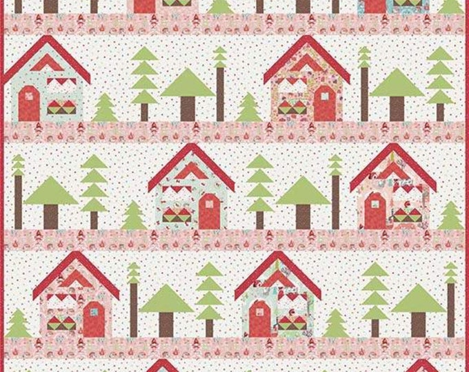 To Grandma's House Quilt Kit by Riley Blake Designs, featuring Little Red in the Woods by Jill Howarth. Pattern by Kelly Fannin (KT0083)