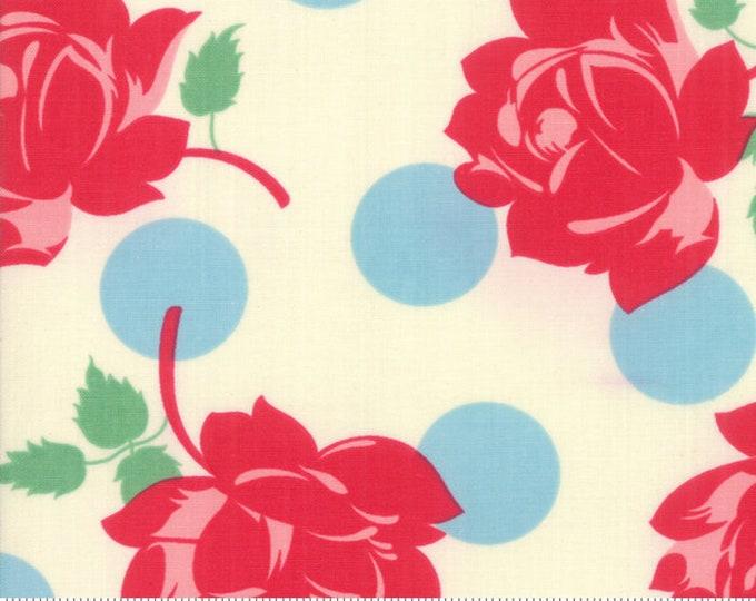 Cheeky Blue Raspberry and Sweet Cream Swell by Urban Chiks for Moda Fabrics (31140 11)