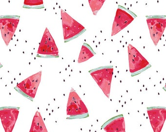Waterish Melon from Floralish by Katarina Roccella for Art Gallery Fabrics (FSH-17411) Summer Fabric - Watermelon Fabric