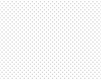 Gray Swiss Dot on White by Riley Blake Designs (C660 40) - Swiss Dot Fabric - Cut Options Available