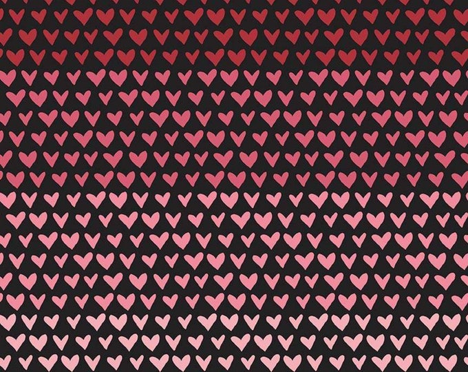Hello Sweetheart Gradient Black fabric by Echo Park Paper Co. for Riley Blake Designs (C7623-BLACK)