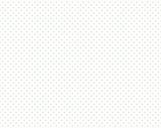 Mint Swiss Dot On White  (C660 Mint), Riley Blake Designs