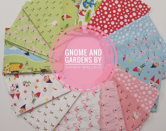 Gnome and Gardens by Shawn Wallace - FQ Bundle - (15 pcs)