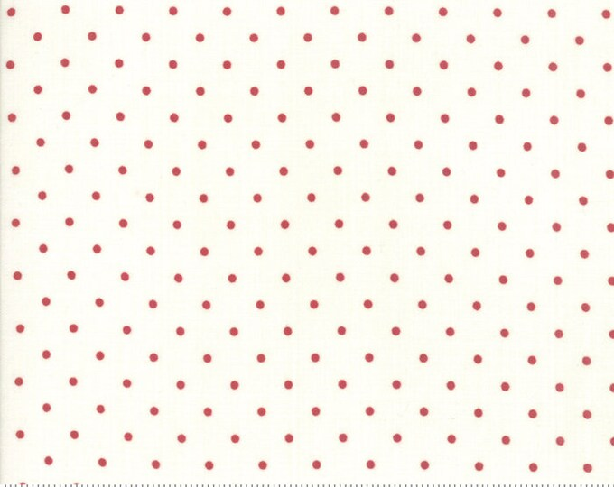 Sweet Tea Dot in Vanilla Red by Sweetwater for Moda Fabrics - (5723-14)