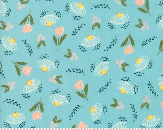 Clover Hollow (37551 18) Sky Flower Daze by Sherri and Chelsi - 1/4 yard piece