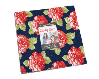 Early Bird Layer Cake by Bonnie and Camille (55190LC) for Moda - Quilting Cotton Fabric