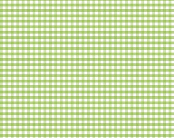 Riley Blake Designs, Small Gingham in Green (C440 30) - Green Gingham Fabric