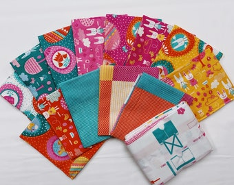 Spring Bunny Fun Fat Quarter Bundle (20540AB) by Stacy Iest Hsu - 13 FQ's  Plus Bunny Panel