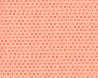 Harper's Garden Coral  Criss Cross by Sherri and Chelsi for Moda Fabrics (37576 20) Cut Options Available