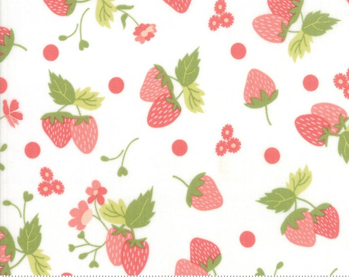 Strawberry Jam Cloud Strawberry Polka Dot by Corey Yoder (Little Miss Shabby) for Moda (29062 11)