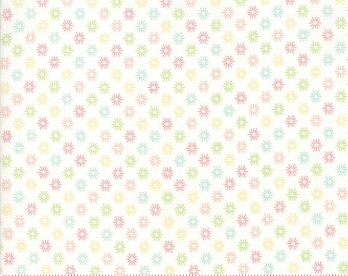 Sunnyside Up Sunshine Fluffy (White) by Corey Yoder (Little Miss Shabby) for Moda (29057 11)