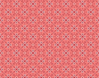 Granny Chic Pink Stitches by Lori Holt (Bee in My Bonnet) (C8524 PINK) - Riley Blake Designs - Lori Holt Granny Chic