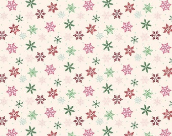 Merry and Bright Snowflakes Cream - Dani Mogstad for Echo Park Paper Co. - Quilting Cotton - Riley Blake Designs (C8395-CREAM)