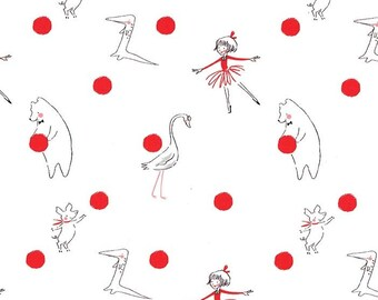 Lola Dutch Polka Dot in Cherry by Sarah Jane for Michael Miller - (DH8586-CHER-D) - Lola Dutch Fabric