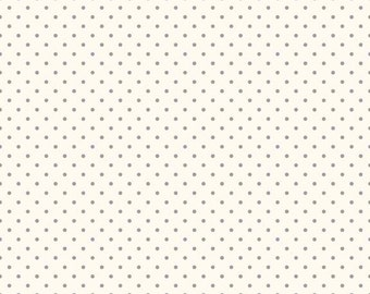 Riley Blake Designs, Swiss Dots in Cream Gray  (C600 40)