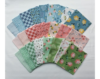 Date Night by Heidi Staples Fat Quarter Bundle SALE!! (FQ-7220-24) - Heidi Staples Date Night FQ Bundle - Quilting Cotton Fabric