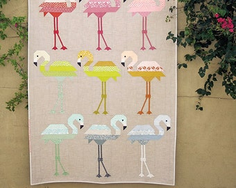 Florence Flamingo - Pattern by Elizabeth Hartman (EH 031) - Flamingo Quilt Pattern