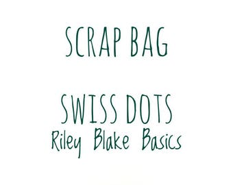 RBD Swiss Dot fabric Scrap bag