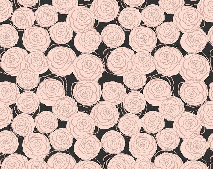 Bliss Black Sparkle Roses by My Mind's Eye for Riley Blake Designs (SC8162-BLACK)