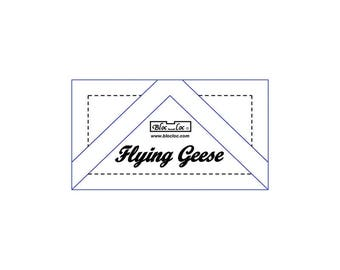 "Bloc Loc - Flying Geese Ruler 1"" x 2"" - Quilting Tool"