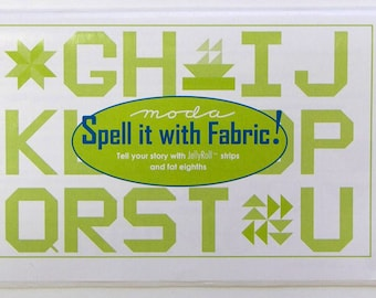 Spell it With Fabric Pattern Booklet from Moda (PSABC)