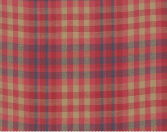 Northport Silky Wovens Red Tan Plaid by Minick & Simpson for Moda Fabrics  (12215 33) - Plaid Fabric
