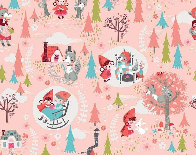 Little Red In The Woods Main Pink (C8080-PINK) by Jill Howarth