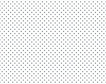 Riley Blake Designs, Swiss Dots Navy on White  (C660 21)