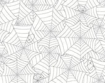 Costume Maker's Ball - Webs - Cream (C8366 CREAM) SALE Costume Maker's Ball by J. Wecker Frisch Riley Blake Designs - Halloween Fabric