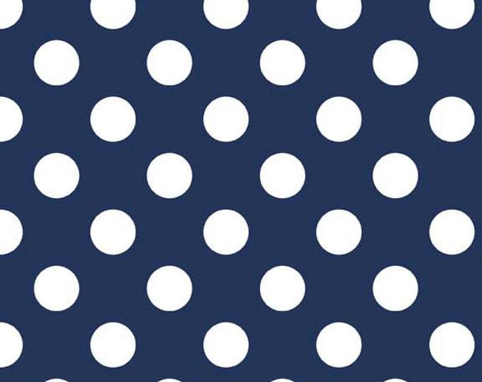 Riley Blake Designs, Medium Dots in Navy (C360 21)